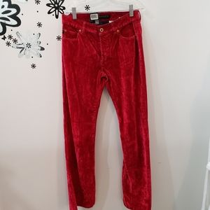 NWT Parasuco Crushed Velvet Red Pants Size 29